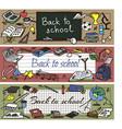 back to school doodle set vector image vector image