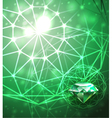 Background with emerald vector image vector image