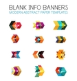 Banners business backgrounds and presentations vector image vector image