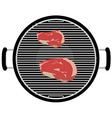 Barbecue grill top view vector image vector image