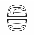 Barrel of beer icon outline style vector image