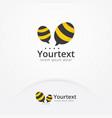 bee talk logo vector image vector image