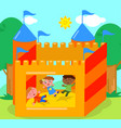 bouncy castle vector image vector image