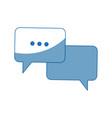 bubble speech dialog chat app web vector image vector image