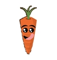 carrot expressions hungry face vector image