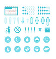 cartoon feminine hygiene products icons set vector image vector image