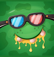 cartoon funny cute monster cinema character vector image