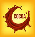 chocolate splash brown background sweet vector image vector image