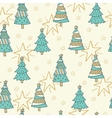 Christmas seamless pattern with trees vector image vector image
