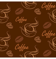 coffee seamless2 vector image vector image