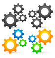 cogwheel graphics 2 composition colored uncolored vector image vector image