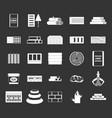 construction materials icon set grey vector image