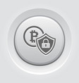 cryptocurrency security icon vector image vector image
