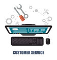 customer service computer support concept vector image vector image