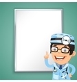doctor points on board vector image vector image