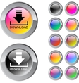 Download multicolor round button vector image vector image