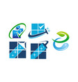 eco friendly cleaning service set vector image