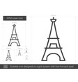 Eiffel tower line icon