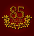 eighty five years anniversary celebration vector image