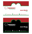 Emergency business card vector image vector image