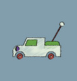 flat shading style icon kids truck vector image vector image