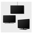 four k monitor led tv isolated transparent vector image