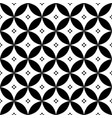 geometric seamless pattern in black and white - in vector image vector image