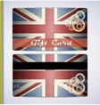grunge flag of The United Kingdom vector image vector image