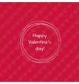 Happy valentines day design template Valentine s vector image