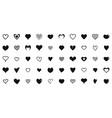 heart shapes icons set simple style vector image
