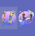home repair isometric template builder and vector image