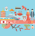 japan background design on japanese theme vector image