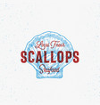 local fresh scallops abstract sign symbol vector image