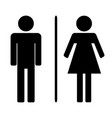male and ladies toilet flat vector image