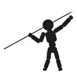 man thrower spear sign black vector image vector image