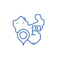 map of china line icon concept map of china flat vector image