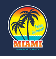 Miami - vintage badge vector image
