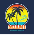miami - vintage badge vector image vector image