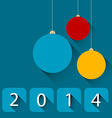 Modern christmas card with flat design vector image