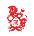 Monkey Lunar year symbol vector image vector image
