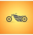 motorcycle label badge abstract motorcycle vector image vector image
