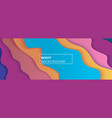 multicolored wavy background with overlap layers vector image vector image