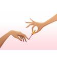 nail-hands vector image vector image