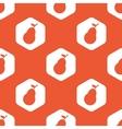 Orange hexagon pear pattern vector image vector image