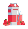 Paper Pack of Strawberry Juice vector image vector image