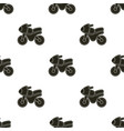 pattern with cartoon motorbike vector image