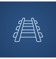 Railway track line icon vector image