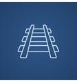 Railway track line icon vector image vector image