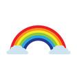 rainbow clouds magic fantasy sweet decoration vector image vector image