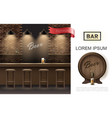 realistic tavern interior concept vector image vector image
